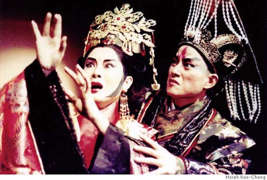 "KINGDOM23_PH1.JPG WEI Hai-Ming, left, and WU Hsing-Kuo in ""Kingdom of Desire."" Courtesy HSIEH Kuo-Cheng Photo: Courtesy"