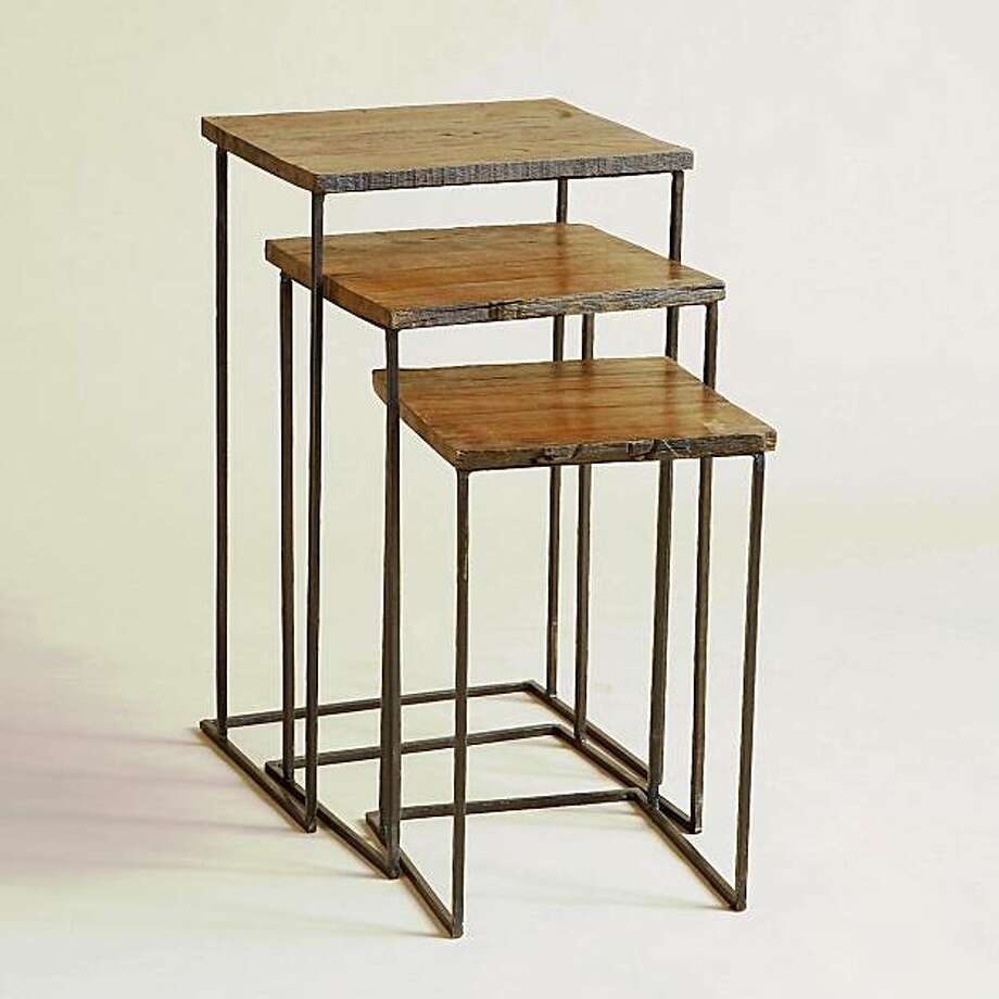 Feather your small nest with nesting tables sfgate for Small nest of tables