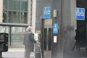 BART elevator at the Embarcadero