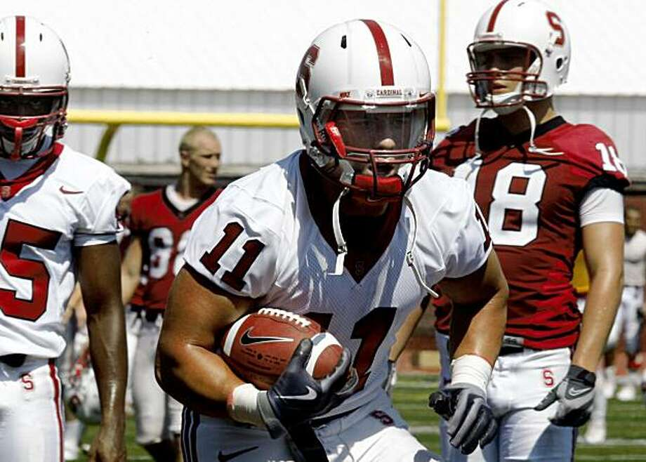 Stanford linebacker Shayne Skov, #11, during practice in Palo Alto,  Calif., on Monday, August 10, 2009. Photo: Liz Hafalia, The Chronicle