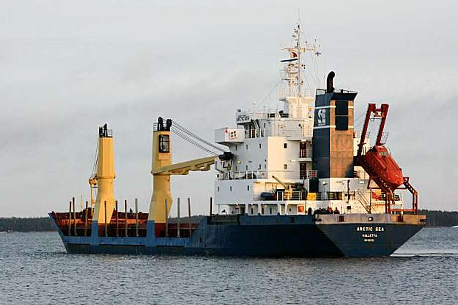 In this Dec. 29, 2008 photo the cargo ship the Arctic Sea is seen in Kotka, Finland.  The Arctic Sea, a Maltese-flagged cargo ship, was supposed to make port in Algeria with its cargo of timber on August 4. More than a week later, there's no sign of the ship or its Russian crew.  (AP Photo/Pekka Laakso/Lehitukuva)   ** FINLAND OUT  NO SALES ** Photo: Pekka Laakso, AP