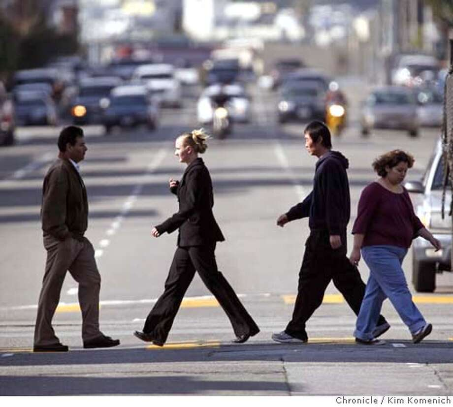 ###Live Caption:Pedestrians walk across Folsom Street at 8th Street in San Francisco on Tuesday, Mar. 11, 2008. Jim Meko, chairman of the Western SoMa Planning Task Force, says the city is encouraging higher density housing without addressing the transportation, streets and services required to accommodate such growth. Photo by Kim Komenich / The San Francisco Chronicle###Caption History:Pedestrians walk across Folsom Street at 8th Street in San Francisco on Tuesday, Mar. 11, 2008. Jim Meko, chairman of the Western SoMa Planning Task Force, says the city is encouraging higher density housing without addressing the transportation, streets and services required to accommodate such growth. Photo by Kim Komenich / The San Francisco Chronicle  Ran on: 03-13-2008  Pedestrians in Western SoMa, like these at Eighth and Folsom streets, may be doing a lot more walking if a Muni plan to cut routes takes effect.###Notes:Pedestrians walk across Folsom Street at 8th Street in San Francisco on Tuesday, Mar. 11, 2008. Jim Meko, chairman of the Western SoMa Planning Task Force, says the city is encouraging higher density housing without addressing the transportation, streets###Special Instructions:MANDATORY CREDIT FOR PHOTOG AND SF CHRONICLE/NO SALES-MAGS OUT Photo: Kim Komenich