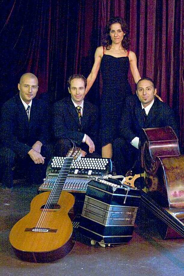 Trio Garufa, featuring (from left to right) Guillermo Garcia, Adrian Jost, Andrea Fuchilieri and Sascha Jacobsen Photo: Jeremy Sutton