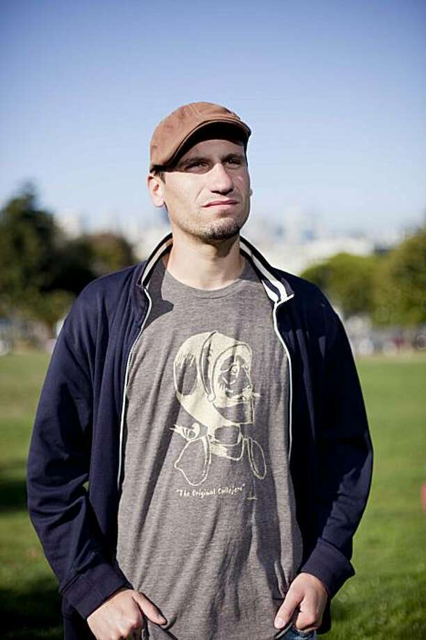 Street Soccer player Antoine Lagarde, 27, of San Francisco, stands for a portrait at Dolores Park in San Francisco, Calif. on Tuesday, Aug. 25, 2009. A native of France, Lagarde has been playing soccer since he was a kid, and was recently chosen to be part of the U.S. World Cup team for the upcoming Homeless World Cup in Milan, Italy, this coming September. A graduate of UC Berkeley, Lagarde is currently working toward his teaching credential at San Francisco State while teaching at Glide Memorial Church in the Tenderloin district. Photo: Stephen Lam, The Chronicle