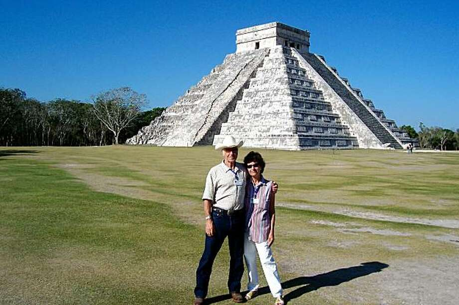 USE AUG. 16 Harold Rafter & Denise Crocker at Chichen Itza in the Yucatan state of Mexico.