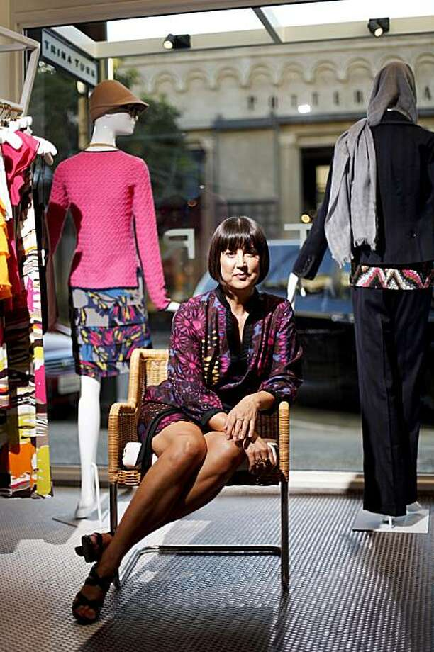 Los Angeles-based fashion designer Trina Turk poses for a portrait at her newly-opened retail store in Burlingame, Calif. on Thursday, Aug. 13, 2009. Photo: Stephen Lam, The Chronicle