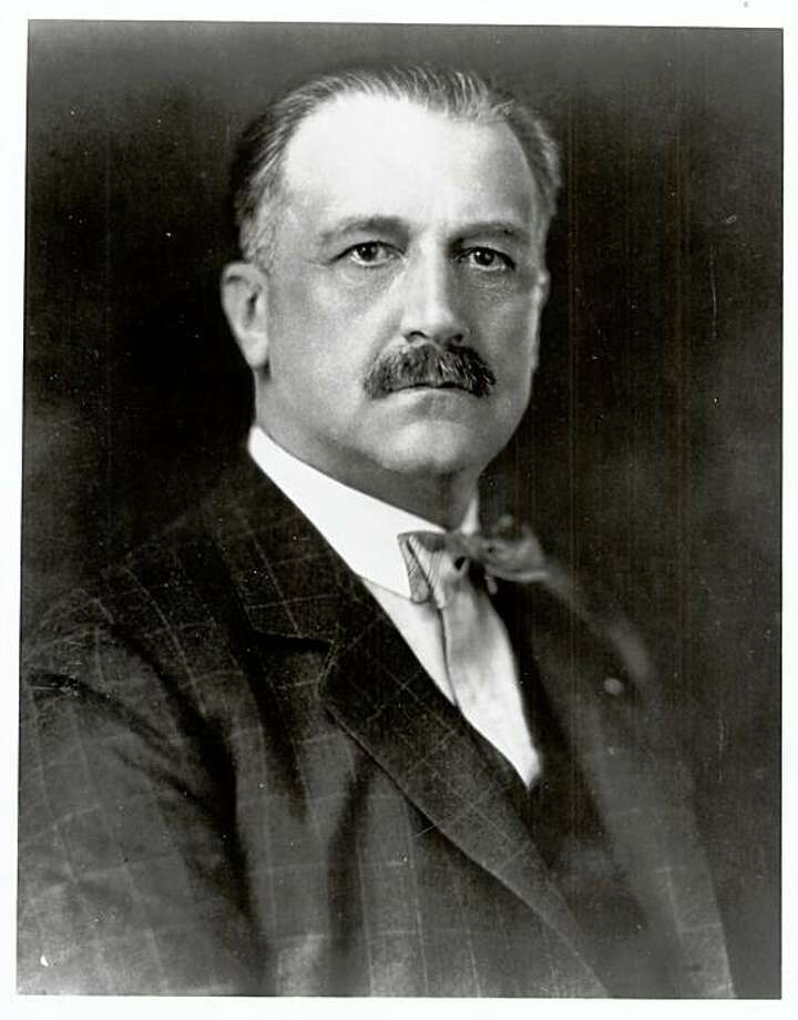 BANKGIANNINI-C-23DEC99-BU-HO--Bank of America founder A. P. Giannini made construction of the Golden Gate Bridge possible by directing BofA to purchase the first issue of bonds. This portrait is from the Band of America archives ca. 1927). Photo: SFC