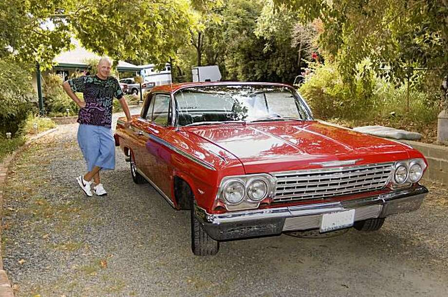 Steve Dopkins rescued this 1962 Chevrolet Impala, originally purchased by his grandfather, and restored it while he was still in high school. Photo: Stephen Finerty