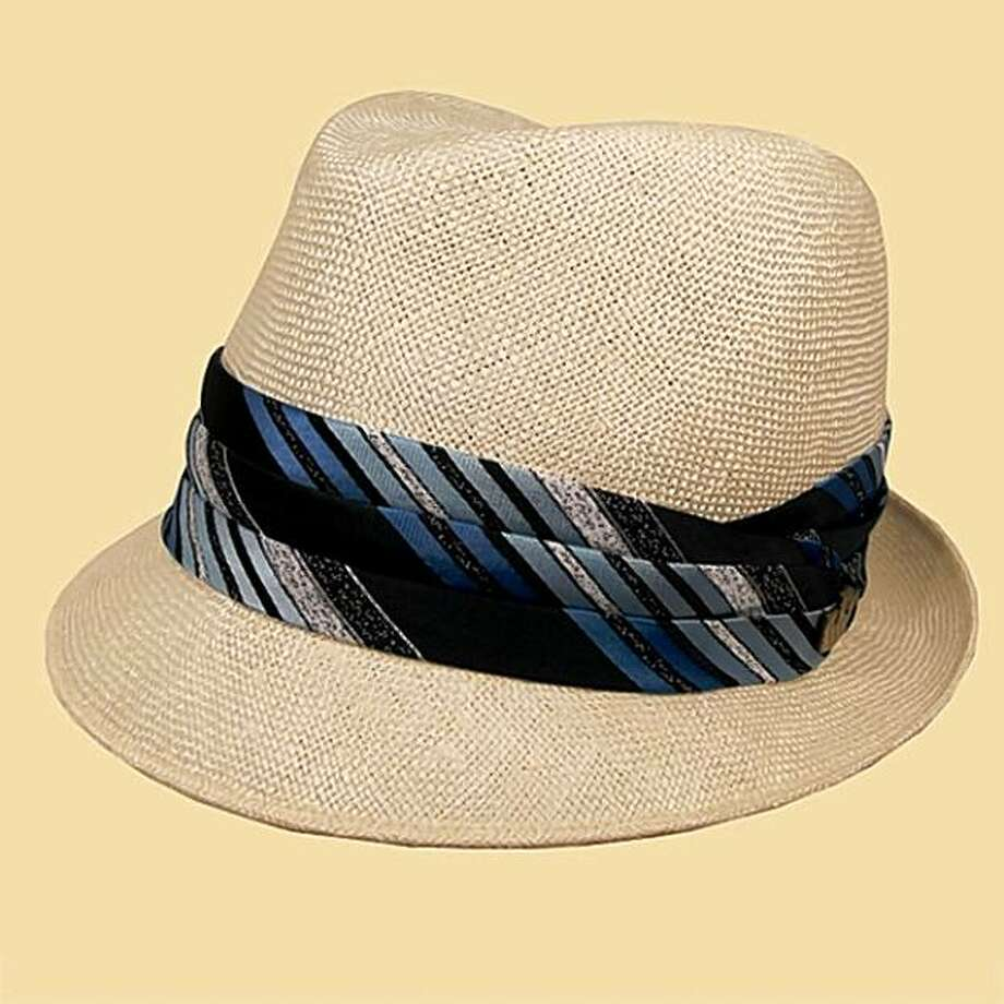 Goorin Bros.' straw Crosby uses a vintage tie in its band and is $163. Photo: Goorin Bros.