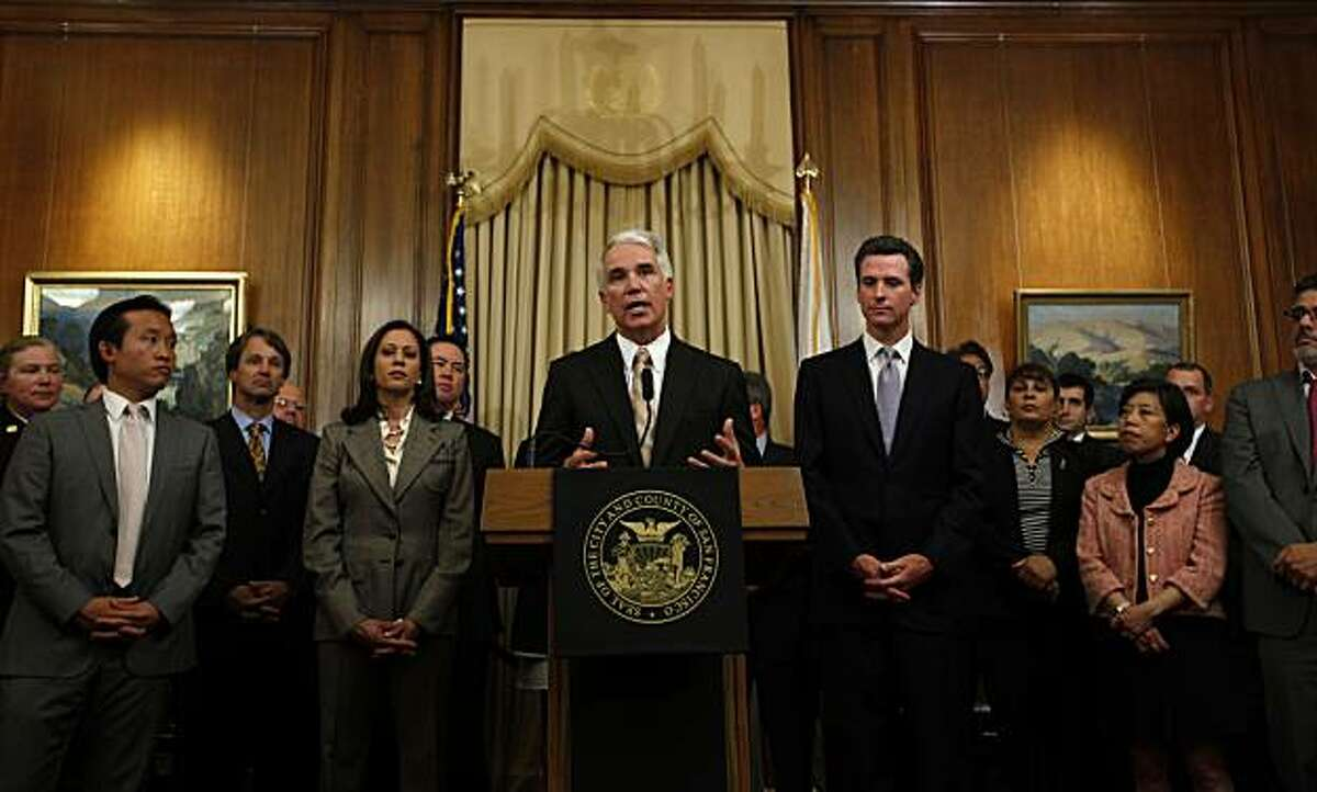 George Gascon speaks with the news media as he is introduced, on Wednesday June 17, 2009 as the new Police Chief of San Francisco, Calif. which he will begin in late July.