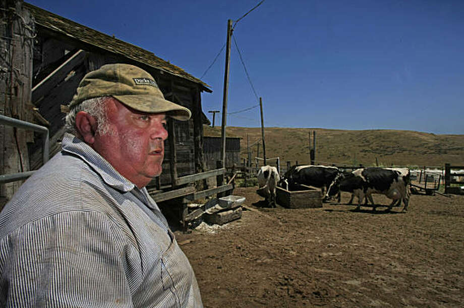 Joseph H. Mendoza Jr., a four generation dairy farmer couldn't keep up with the high cost and the recession was forced to sell off his dairy cows which has been in his family living for over a century at Point Reyes, Calif., June, 2009. Photo: Frederic Larson, The Chronicle