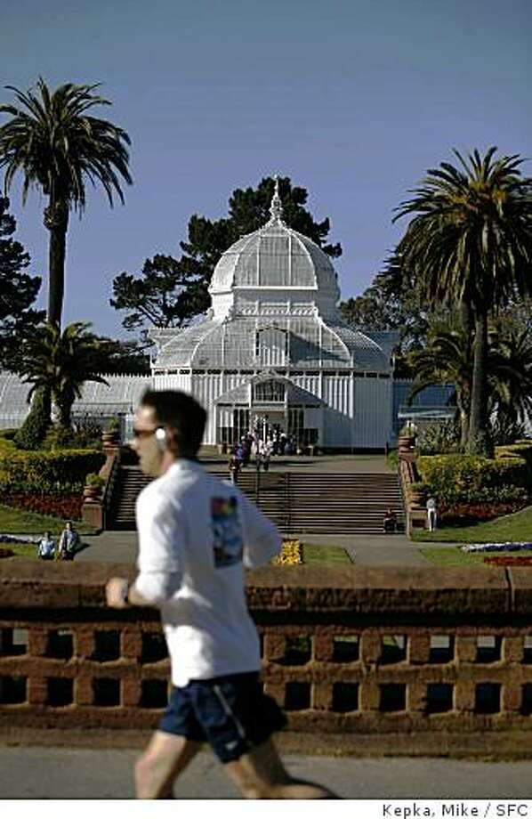 The Conservatory of Flowers is open for visiting on Thursday, March 27, 2008 in San Francisco , Calif. Photo by Mike Kepka  / San Francisco Chronicle Photo: Kepka, Mike, SFC