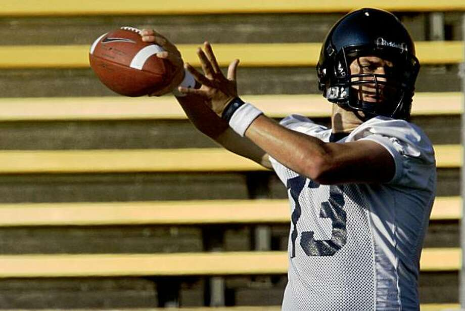 Cal quarterback Kevin Riley stepped onto Berkeley's Memorial Stadium field Aug 7, 2009 as the front-runner for the starting position. Photo: Lance Iversen, The Chronicle