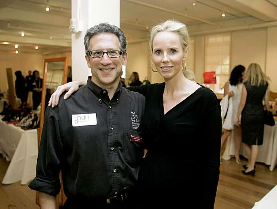 Vanessa Getty (R) poses with Peninsula Humane Society president Ken White (L) at a designer clothing re-sale event in San Francisco Wednesday May 14, 2008. The event helps benefit the San Francisco Bay Humane Friends, an auxiliary of the Peninsula Humane Society and the SPCA. Photo by Andy Kuno / Special to the Chronicle Photo: Andy Kuno, Special To The Chronicle