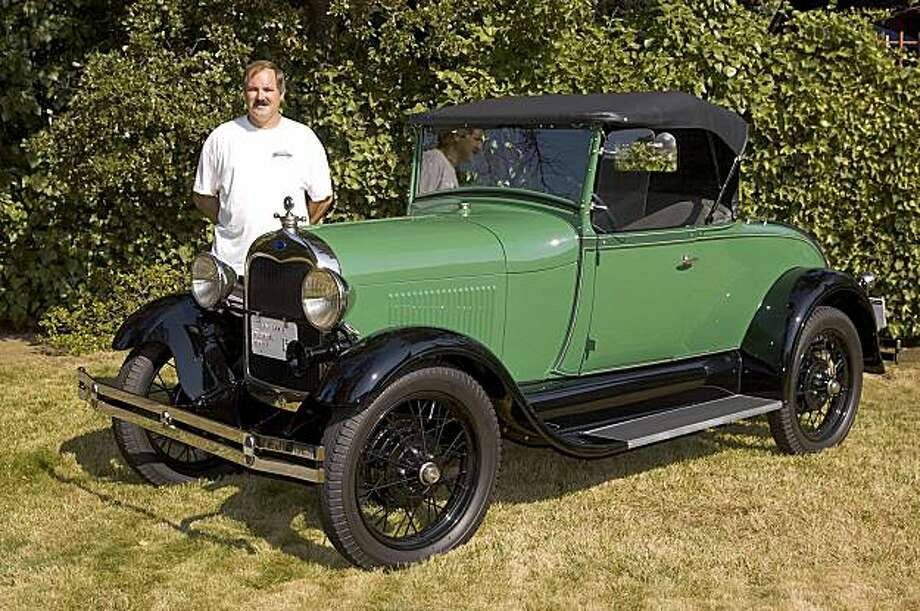 Kevin Enderby's 1928 Model A Ford was purchased by his father when Enderby was a boy. He took possession of it in 2000 and restored it. 29 Ford Model A belonging to Kevin Enderby Photo: Stephen Finerty