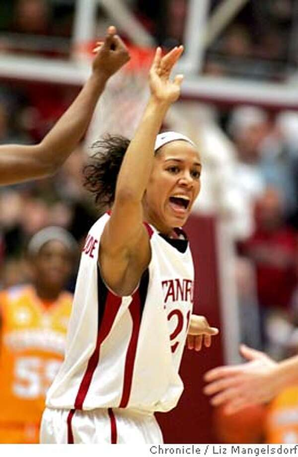 ###Live Caption:stanford_women1032_lm.jpg  Stanford's #21 Rosalyn Gold-Onwude celebrates.  Stanford beats Tennessee 73-69 in OT. Stanford University plays the University of Tennessee in women's basketball. Photo by Liz Mangelsdorf, Special to the Chronicle Event on 12/22/07 in Palo Alto.###Caption History:stanford_women1032_lm.jpg  Stanford's #21 Rosalyn Gold-Onwude celebrates.  Stanford beats Tennessee 73-69 in OT. Stanford University plays the University of Tennessee in women's basketball. Photo by Liz Mangelsdorf, Special to the Chronicle Event on 12/22/07 in Palo Alto.###Notes:###Special Instructions:MANDATORY CREDIT FOR PHOTOG AND SF CHRONICLE/NO SALES-MAGS OUT Photo: Liz Mangelsdorf
