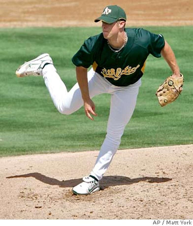 ###Live Caption:Oakland Athletics pitcher Rich Harden delivers a pitch against the Los Angeles Angels during the fifth inning of a spring training baseball game Wednesday, March 19, 2008, in Phoenix. (AP Photo/Matt York)###Caption History:Oakland Athletics pitcher Rich Harden delivers a pitch against the Los Angeles Angels during the fifth inning of a spring training baseball game Wednesday, March 19, 2008, in Phoenix. (AP Photo/Matt York)###Notes:Rich Harden###Special Instructions:EFE OUT Photo: Matt York