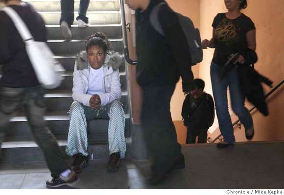 "###Live Caption:Balboa High School Senior, Shaneka Regina ""Precious"" Washington, 18, poses for a portrait on Tuesday, April 1, 2008 in San Francisco, Calif. Washington, who has a learning disability, says she has taken the now mandatory high exam several times and still needs to the pass the english part of the test in order to graduate this year.  Photo by Mike Kepka / San Francisco Chronicle###Caption History:Balboa High School Senior, Shaneka Regina ""Precious"" Washington, 18, poses for a portrait on Tuesday, April, 01, 2008 in San Francisco, Calif. Washington, who has a learning disability, says she has taken the now mandatory high exam several times and still needs to the pass the english part of the test in order to graduate this year. Photo by Mike Kepka / San Francisco Chronicle###Notes:(cq) Shaneka Regina ""Precious"" Washington###Special Instructions:MANDATORY CREDIT FOR PHOTOG AND SAN FRANCISCO CHRONICLE/NO SALES-MAGS OUT Photo: Mike Kepka"