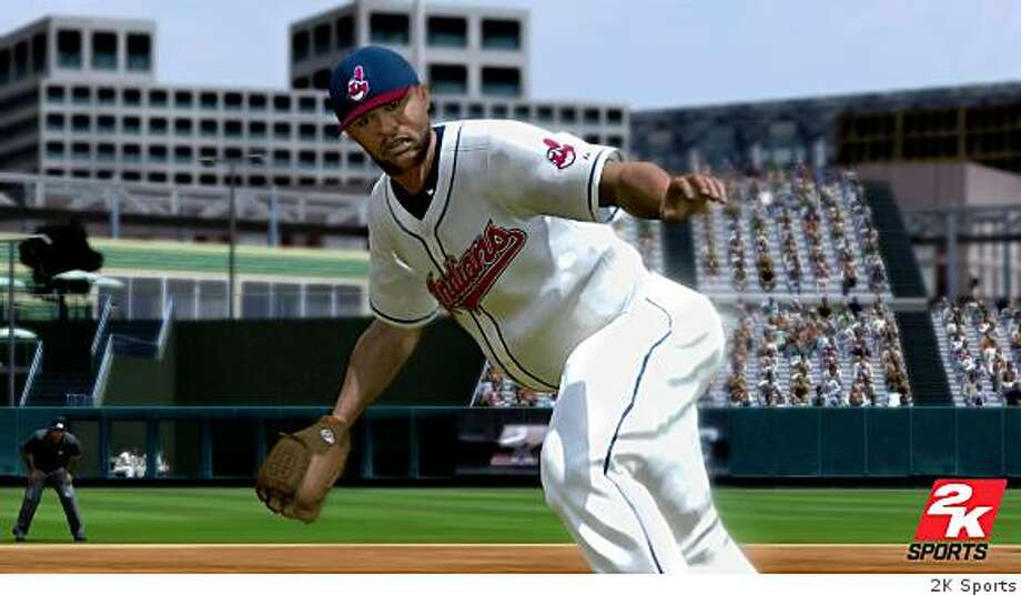 Vallejo's C.C. Sabathia of the Cleveland Indians prepares to strike out the side in MLB 2K8, a new baseball game. Photo: 2K Sports