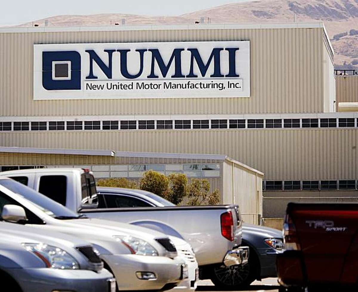 The New United Motor Manufacturing Inc., (NUMMI) plant in Fremont, Calif. is shown Thursday, July 23, 2009. Toyota Motor Corp. has decided to liquidate its stake in the manufacturing plant that it jointly operated with General Motors, a Japanese news agency reported Thursday. (AP Photo/Paul Sakuma)