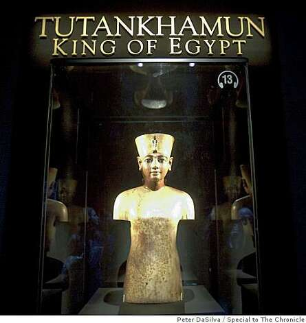 The boy king, Tutankhamun at the de Young Museum in San Francisco, California on Jun. 23, 2009. Photo: Peter DaSilva, Special To The Chronicle