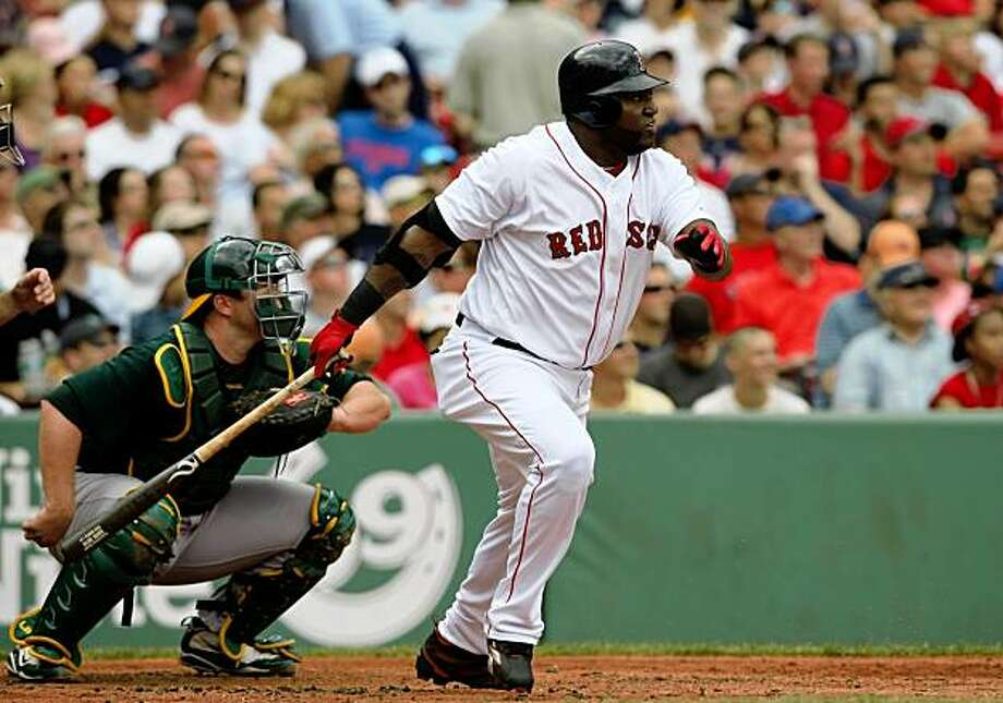 BOSTON - JULY 30:  Designated hitter David Ortiz #34 of the Boston Red Sox bats against the Oakland A's on July 30, 2009 at Fenway Park in Boston, Massachusetts.  (Photo by Elsa/Getty Images) Photo: Elsa, Getty Images