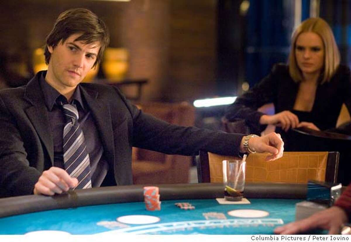 Ben Campbell (Jim Sturgess, left) is recruited by Jill Taylor (Kate Bosworth, right) to join M.I.T.�s blackjack team ? a group of students that uses smarts and skills to take Vegas for millions ? in Columbia Pictures� 21. Directed by Robert Luketic, the screenplay is by Peter Steinfeld and Allan Loeb, based upon the book
