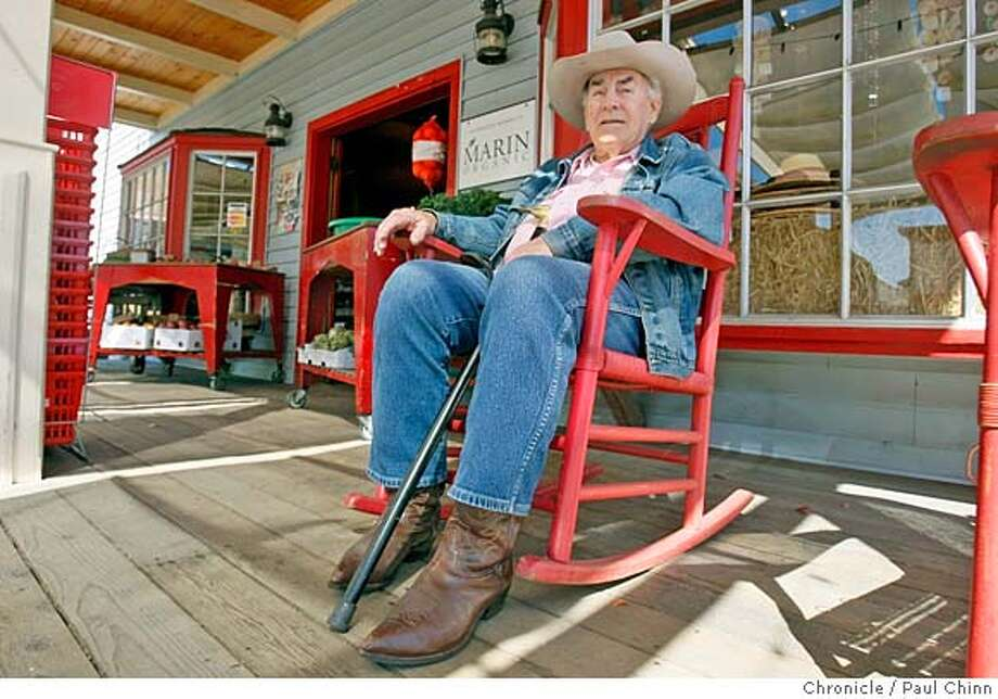 "###Live Caption:Longtime resident Ed Brennan sits in his favorite chair at Toby's market in Point Reyes Station, Calif., on Wednesday, March 5, 2008. Brennan, who's lived in the tiny West Marin town for 30 years, plans to avoid the crowds that will be attending this weekend's ""Geography of Hope"" literary conference celebrating the work of famed author Wallace Stegner.  Photo by Paul Chinn / San Francisco Chronicle###Caption History:Longtime resident Ed Brennan sits in his favorite chair at Toby's market in Point Reyes Station, Calif., on Wednesday, March 5, 2008. Brennan, who's lived in the tiny West Marin town for 30 years, plans to avoid the crowds that will be attending this weekend's ""Geography of Hope"" literary conference celebrating the work of famed author Wallace Stegner.  Photo by Paul Chinn / San Francisco Chronicle###Notes:Ed Brennan###Special Instructions:MANDATORY CREDIT FOR PHOTOGRAPHER AND S.F. CHRONICLE/NO SALES - MAGS OUT Photo: Paul Chinn"