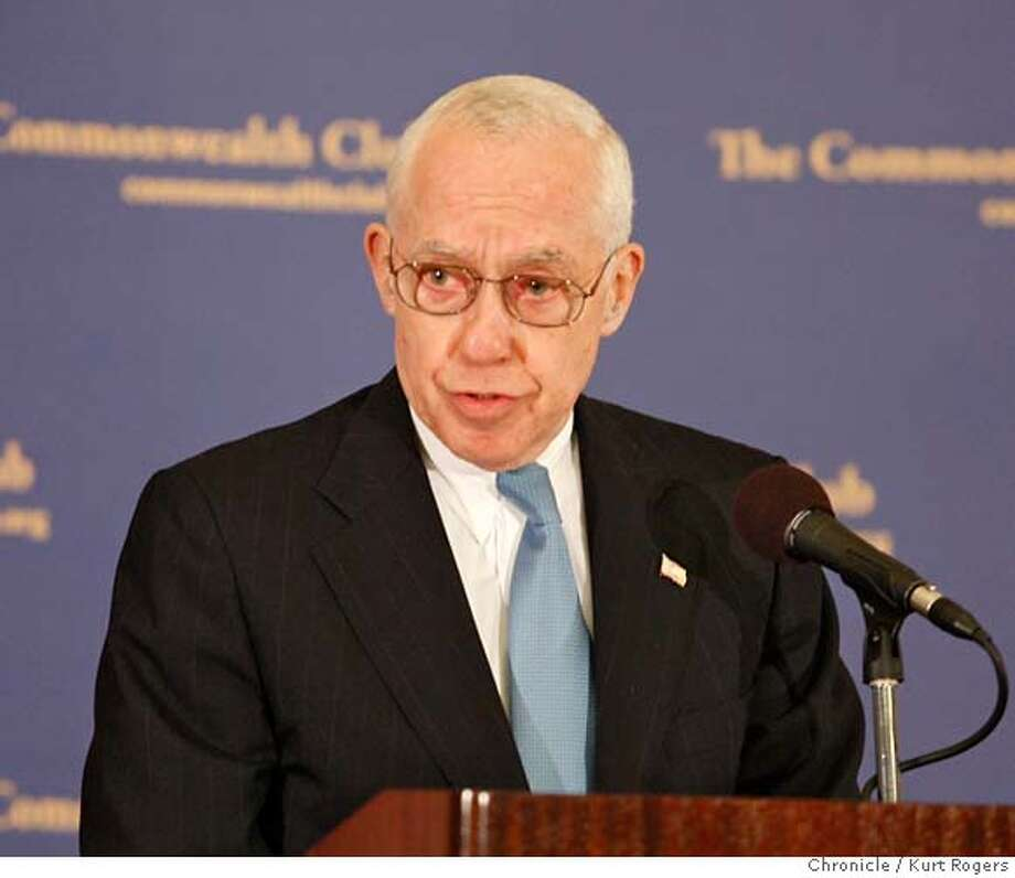 ###Live Caption:United States Attorney General Michael Mukasey spoke to the Commonwealth Club at the Intercontinental Hotel on Thursday, March 27, 2008 in San Francisco, Calif.  Photo By Kurt Rogers / San Francisco Chronicle###Caption History:The Attorney General Michael Mukasey spoke to the Commonwealth Club. The event was held at the Intercontinental Hotel On Thursday March 27 2008 in San Francisco, Calif  Photo By Kurt Rogers / San Francisco Chronicle###Notes:Michael Mukasey###Special Instructions:MANDATORY CREDIT FOR PHOTOG AND SAN FRANCISCO CHRONICLE/NO SALES-MAGS OUT Photo: Kurt Rogers