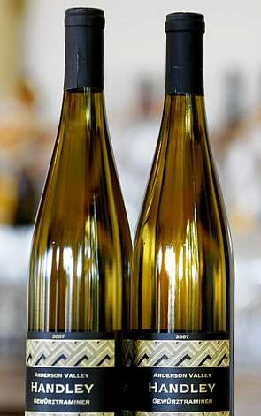 The distinctive Gewurztraminer of Handley Cellars is a popular varietal that is very dry. Milla Handley is the winemaker for Hanley Cellars off highway 128 in the Anderson Valley of Mendocino County. Photo: Brant Ward, The Chronicle