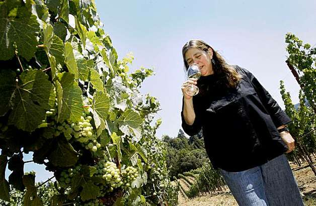 Milla Handley says the Anderson Valley is one of the best places to grow the cool-loving Gewurztraminer grape. Milla Handley is the winemaker for Hanley Cellars off highway 128 in the Anderson Valley of Mendocino County. Photo: Brant Ward, The Chronicle