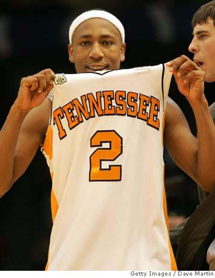 ###Live Caption:BIRMINGHAM, AL - MARCH 23: JaJuan Smith #2 of the Tennessee Volunteers reacts at the end of a 76-71 win over Butler during the second round of the East Regional as part of the 2008 NCAA Men's Basketball Tournament at the Birmingham-Jefferson Civic Center on March 23, 2008 in Birmingham, Alabama. (Photo by Dave Martin/Getty Images)###Caption History:BIRMINGHAM, AL - MARCH 23: JaJuan Smith #2 of the Tennessee Volunteers reacts at the end of a 76-71 win over Butler during the second round of the East Regional as part of the 2008 NCAA Men's Basketball Tournament at the Birmingham-Jefferson Civic Center on March 23, 2008 in Birmingham, Alabama. (Photo by Dave Martin/Getty Images)###Notes:Butler v Tennessee###Special Instructions: Photo: Dave Martin