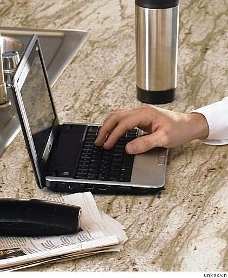 "handout image of the dell inspiron mini 9, one of the new ""netbooks""... small-task computers used primarily for internet access and media viewing. Photo: Unknown"