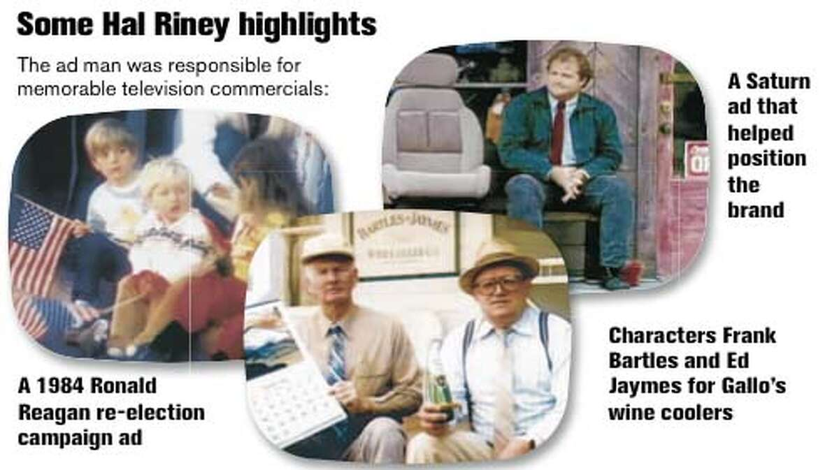 Some Hal Riney highlights. Chronicle Graphic