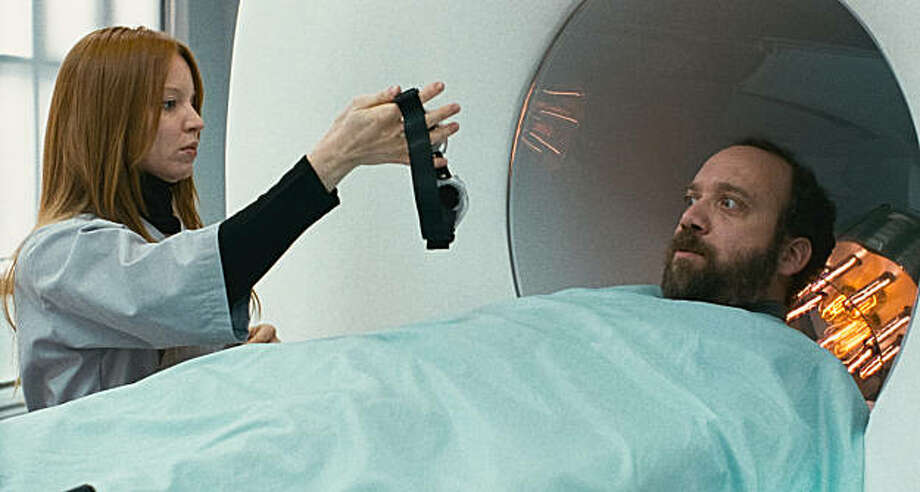 """Lauren Ambrose  and Paul Giamatti in """"Cold Souls."""" Photo: Samuel Goldwyn Films"""