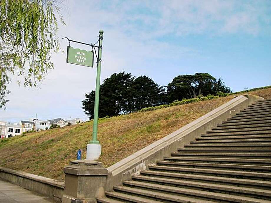 alta plaza park in s.f. Photo: Jonathan Curiel, The Chronicle