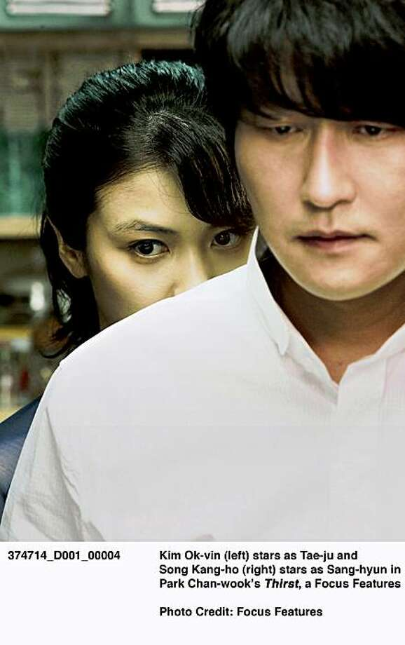 "Kim Ok-vin (left) and Song Kang-ho star in Park Chan-wook's South Korean vampire movie ""Thirst."" Photo: Focus Features"