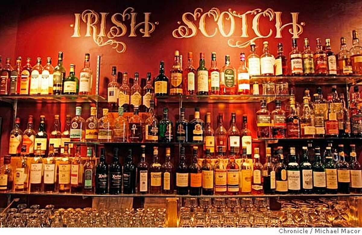 ###Live Caption:The Whiskeys Thieves bar on Geary St. near Hyde St. in San Francisco, Calif., offers a hugh selection of Whiskeys to it's patrons. Photo by Michael Macor/ San Francisco Chronicle###Caption History:The Whiskeys Thieves bar on Geary St. near Hyde St. in San Francisco, Calif., offers a hugh selection of Whiskeys to it's patrons. Photo by Michael Macor/ San Francisco Chronicle###Notes:Whiskey Thieves Bar on Geary St. in San Francisco, Calif., offers a large selection of Whiskey to it's patrons.###Special Instructions:Mandatory credit for Photographer and San Francisco Chronicle No sales/ Magazines Out
