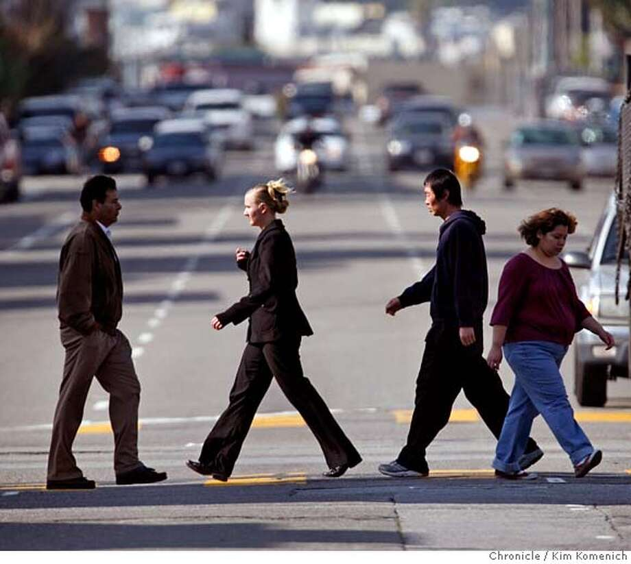###Live Caption:Pedestrians walk across Folsom Street at 8th Street in San Francisco on Tuesday, Mar. 11, 2008. Jim Meko, chairman of the Western SoMa Planning Task Force, says the city is encouraging higher density housing without addressing the transportation, streets and services required to accommodate such growth. Photo by Kim Komenich / The San Francisco Chronicle###Caption History:Pedestrians walk across Folsom Street at 8th Street in San Francisco on Tuesday, Mar. 11, 2008. Jim Meko, chairman of the Western SoMa Planning Task Force, says the city is encouraging higher density housing without addressing the transportation, streets and services required to accommodate such growth. Photo by Kim Komenich / The San Francisco Chronicle###Notes:Pedestrians walk across Folsom Street at 8th Street in San Francisco on Tuesday, Mar. 11, 2008. Jim Meko, chairman of the Western SoMa Planning Task Force, says the city is encouraging higher density housing without addressing the transportation, streets###Special Instructions:MANDATORY CREDIT FOR PHOTOG AND SF CHRONICLE/NO SALES-MAGS OUT Photo: Kim Komenich