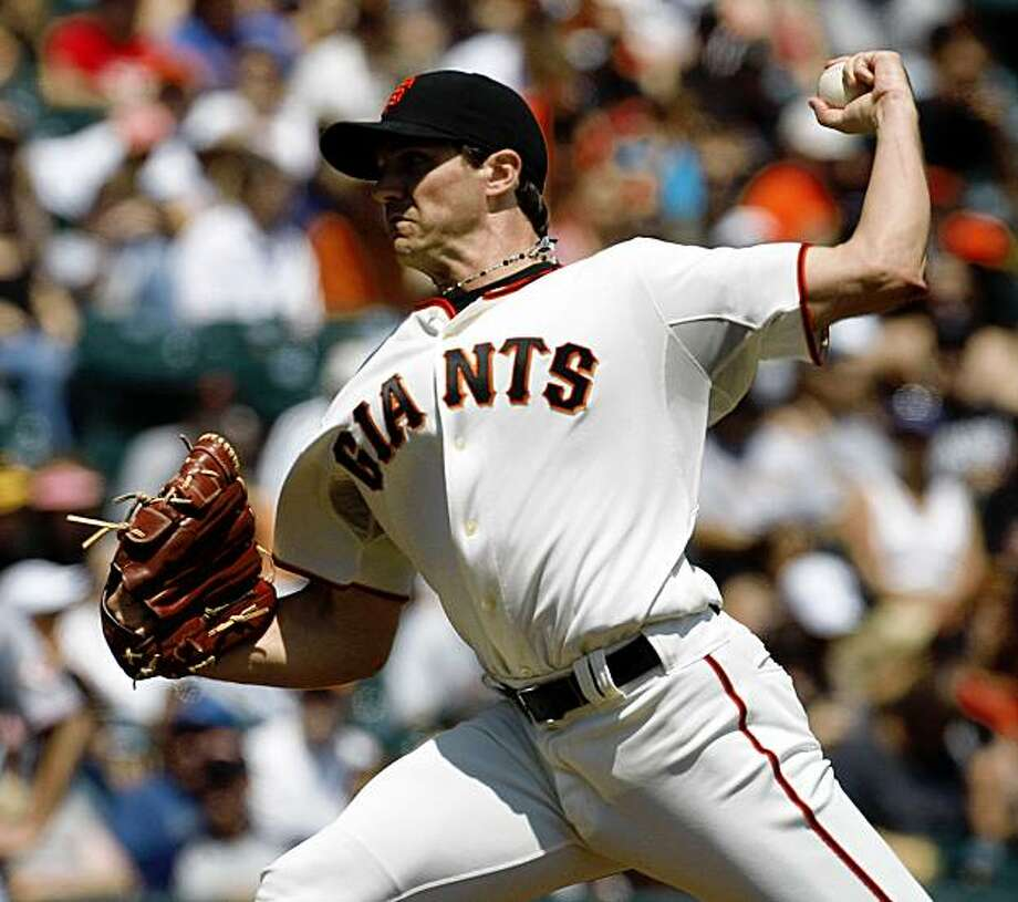 Barry Zito was the starting pitcher for the San Francisco Giants against the Cincinnati Red at AT&T Park in San Francisco, Calif., on August 8, 2009. Photo: Frederic Larson, The Chronicle