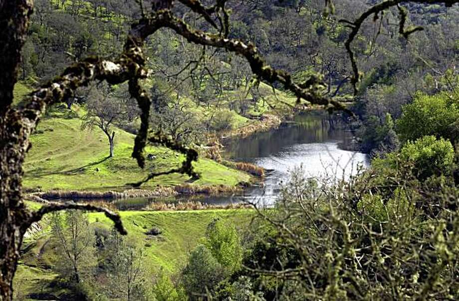 Kelly Lake runs through the  Henry Coe State Park, in Gilroy in 2003. Photo: Lacy Atkins, The Chronicle
