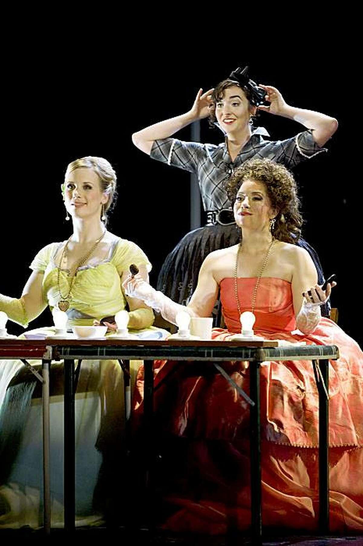 """Lara Ciekiewicz, Caitlin Mathes, Ellie Jarrett (from left to right) in Mozart's """"Cosi Fan Tutte"""""""