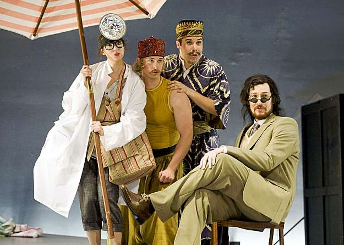 """Caitlin Mathes, John Chest, Alex Mansoori, Benjamin LeClair (from left to right) in Mozart's """"Cosi Fan Tutte"""""""