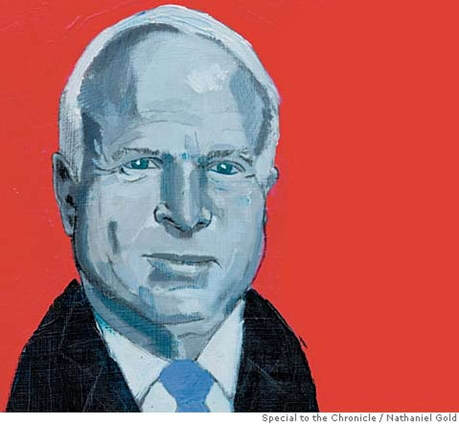 John McCain and the Question of Age. Illustration by Nathaniel Gold, special to the Chronicle