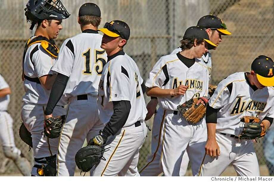 ###Live Caption:The Alameda Hornets take the field against the Berkeley Yellowjackets in Alameda, Calif., on March 21, 2008. the team will travel to Japan tomorrow to play a series of games over the next several days. Photo by Michael Macor/ San Francisco Chronicle###Caption History:The Alameda Hornets take the field against the Berkeley Yellowjackets in Alameda, Calif., on March 21, 2008. the team will travel to Japan tomorrow to play a series of games over the next several days. Photo by Michael Macor/ San Francisco Chronicle###Notes:High School Baseball, the Alameda Hornets take on the Berkeley Yellowjackets at Lincoln Park field in Alameda Calif.###Special Instructions:Mandatory credit for Photographer and San Francisco Chronicle No sales/ Magazines Out Photo: Michael Macor