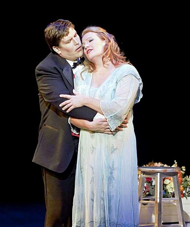 "Brian Thorsett (l.) as Faust and Kristin Clayton  as Marguerite in Gounod's ""Faust"" at Festival Opera Photo: Robert Shomler Photo By Robert S,  Photo By Robert Shomler"