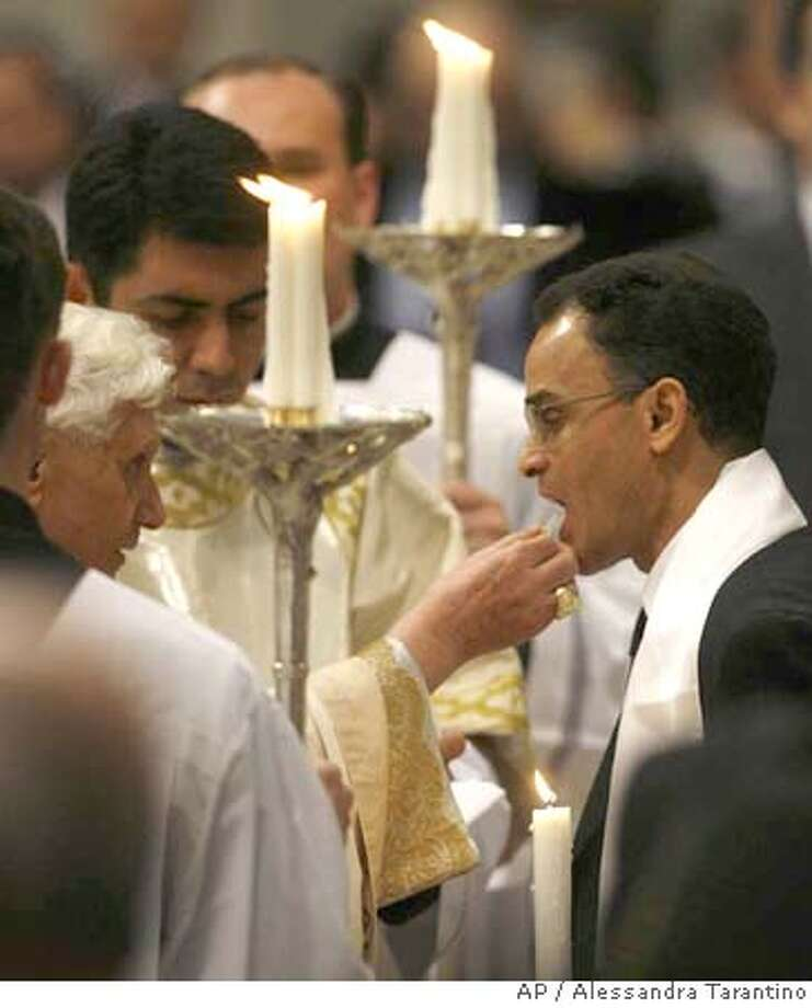 Magdi Allam Right Italys Most Prominent Muslim Commentator Receives Holy Communion After Being