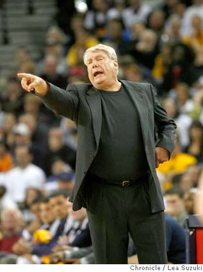 Golden State Warriors Head Coach Don Nelson calls out from the side during the second half of the Golden State Warriors vs. Portland Trail Blazers game on Sunday at the Oracle Arena in Oakland on March 2, 2008. Photo by Lea Suzuki / San Francisco Chronicle Photo: Lea Suzuki