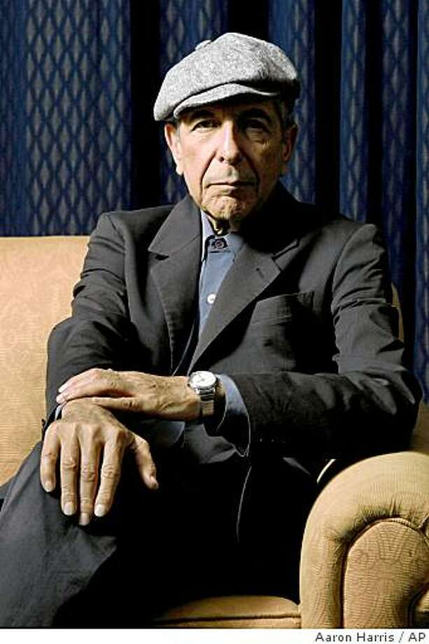 ** FILE ** Leonard Cohen is photographed in Toronto in this Feb. 4, 2006, file photo. Cohen will be inducted into the Rock and Roll Hall of Fame on March 10, 2008 in New York along with John Mellencamp, The Ventures, Madonna and The Dave Clark Five. (AP Photo/The Canadian Press, Aaron Harris, file) Photo: Aaron Harris, AP