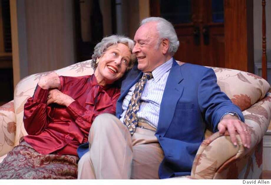 Amanda (Karen Grassle) and Gus (Edward Sarafian) get to know one another in TheatreWorks� SOUTHERN COMFORTS. Photo credit ? David Allen Photo: David Allen